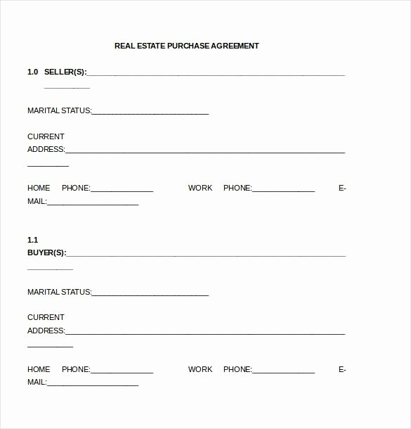 Simple Land Purchase Agreement form Unique Simple Land Contract Template 4084