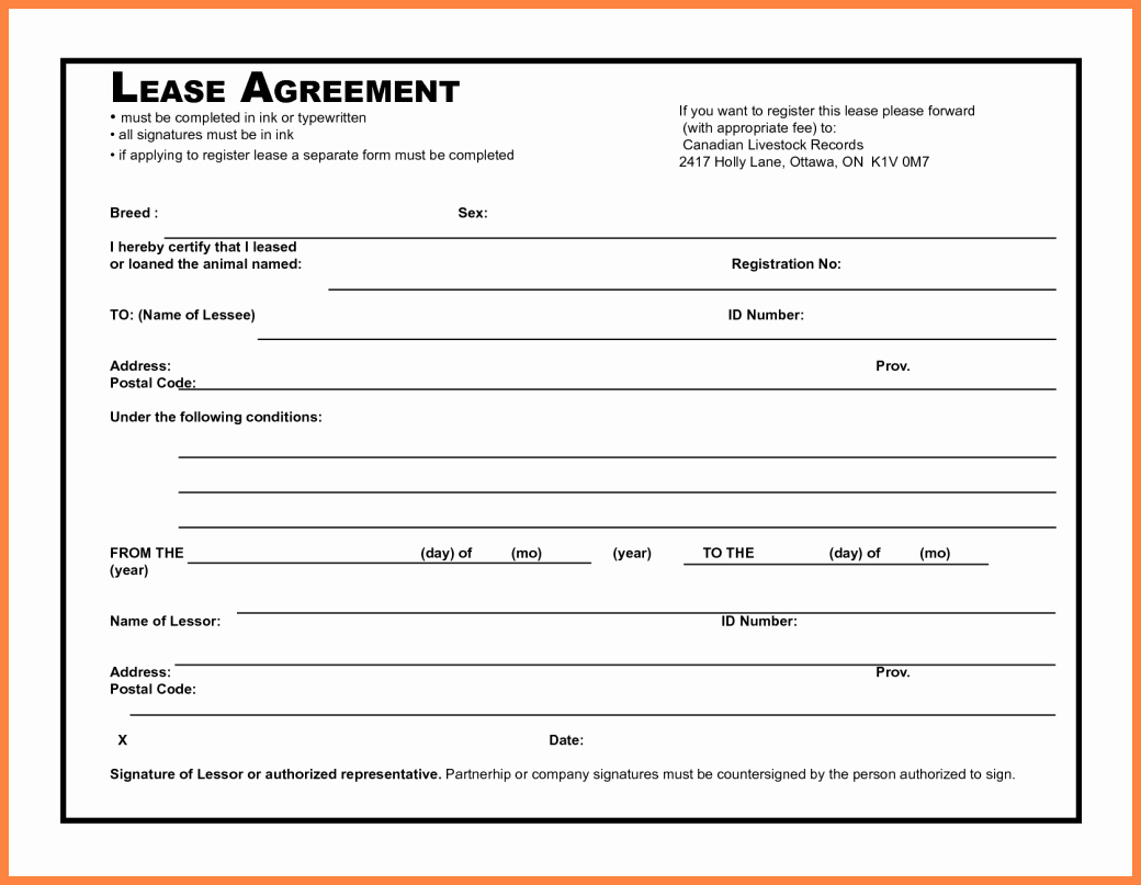 Simple Lease Agreement Pdf Awesome 4 Simple Mercial Lease Agreement Template