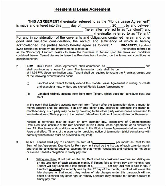 Simple Lease Agreement Pdf Beautiful Sample Lease Agreements 8 Documents In Pdf Word