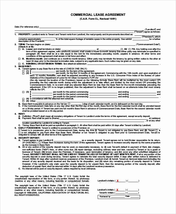 Simple Lease Agreement Pdf Fresh Simple Lease Agreement 9 Examples In Pdf Word