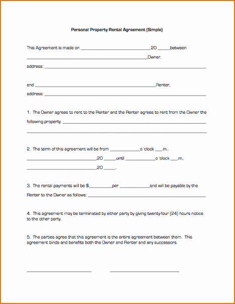 Simple Lease Agreement Pdf Inspirational Basic Lease Agreement