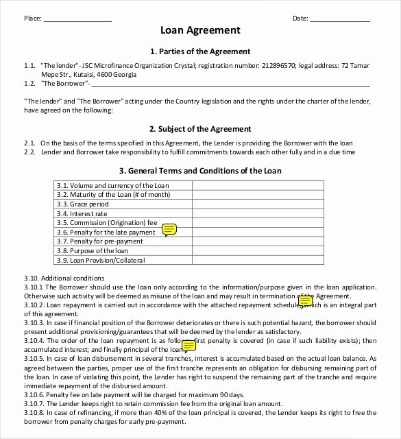 Simple Loan Agreement Pdf Awesome 26 Great Loan Agreement Template