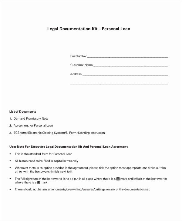 Simple Loan Agreement Pdf Best Of Simple Loan