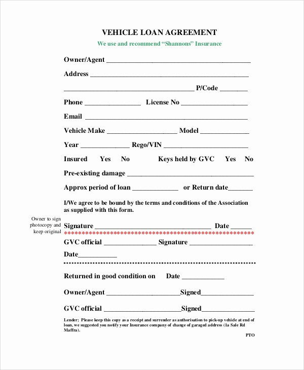 Simple Loan Agreement Pdf Elegant Car Loan Contract Template – Emmamcintyrephotography