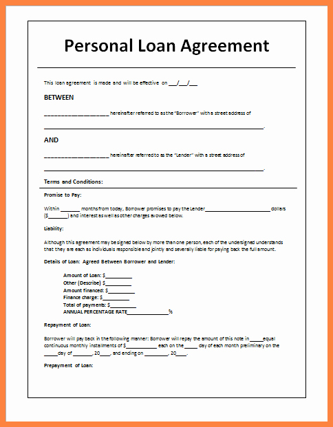 Simple Loan Agreement Pdf Fresh 5 Sample Loan Agreement Letter Between Friends