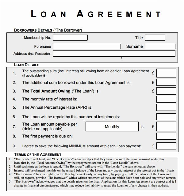 Simple Loan Agreement Pdf Lovely Free 12 Sample Standard Loan Agreement Templates In
