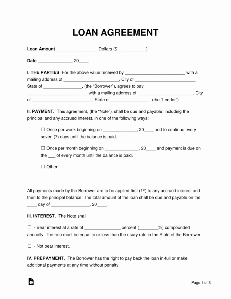 Simple Loan Agreement Pdf Unique Free Loan Agreement Templates Pdf Word