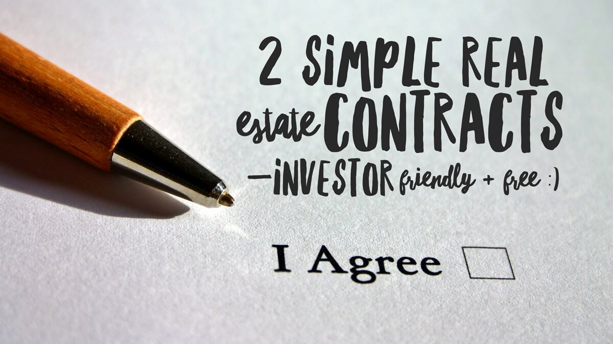 Simple Real Estate Contract Awesome 2 Simple Real Estate Contracts —investor Friendly & Free