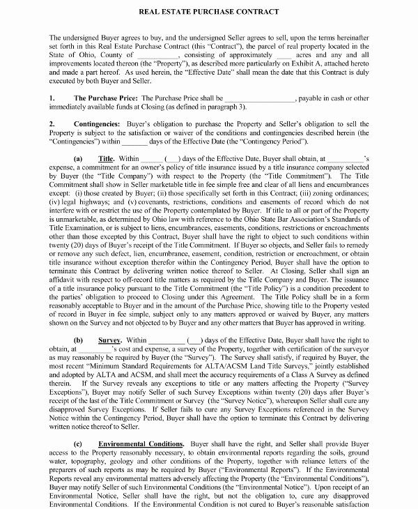 Simple Real Estate Contract Fresh 11 Real Estate Purchase Contract Examples Pdf Word