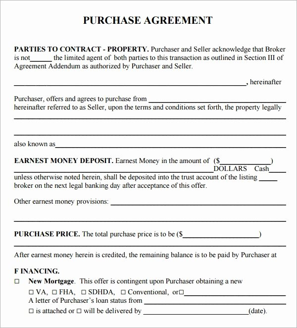 Simple Real Estate Contract Fresh Purchase Agreement 9 Download Free Documents In Pdf Word