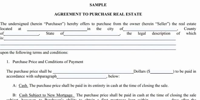 Simple Real Estate Contract Inspirational Simple Real Estate Purchase Agreement Pdf Simple Fer to