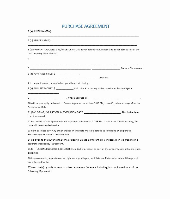 Simple Real Estate Contract Luxury 37 Simple Purchase Agreement Templates [real Estate Business]