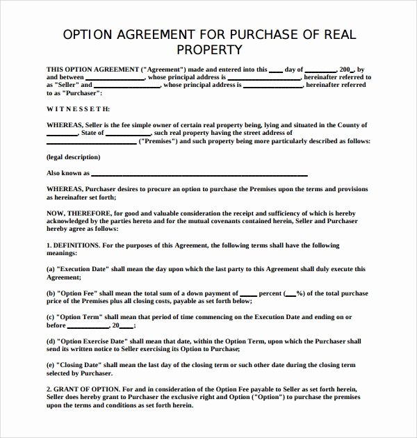 Simple Real Estate Contract New Free 14 Sample Real Estate Purchase Agreement Templates