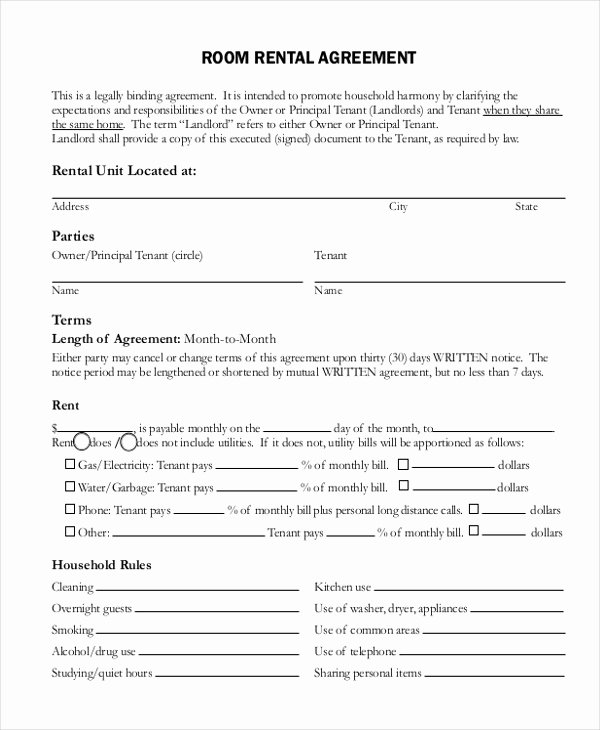 Simple Rental Agreement Pdf Awesome Free 12 Simple Rental Agreement forms