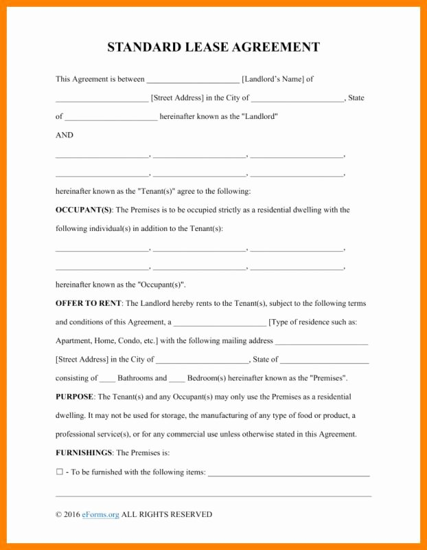 Simple Rental Agreement Pdf Beautiful Basic Lease Agreement