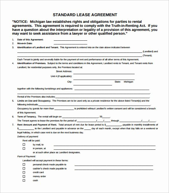 Simple Rental Agreement Pdf Best Of Simple Lease Agreement 7 Download Free Documents In Pdf