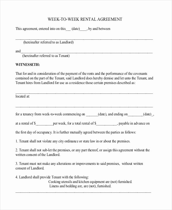Simple Rental Agreement Pdf Fresh 44 Simple Rental Agreement Templates Pdf Word
