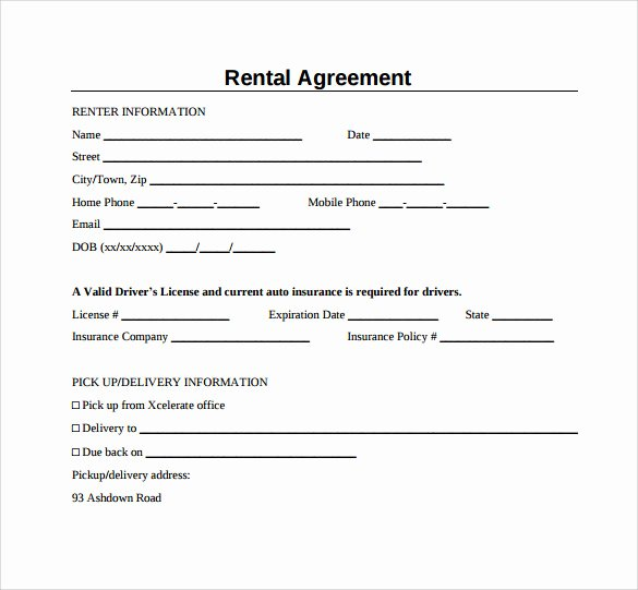 Simple Rental Agreement Pdf Fresh Sample Generic Rental Agreement 6 Free Documents In Pdf