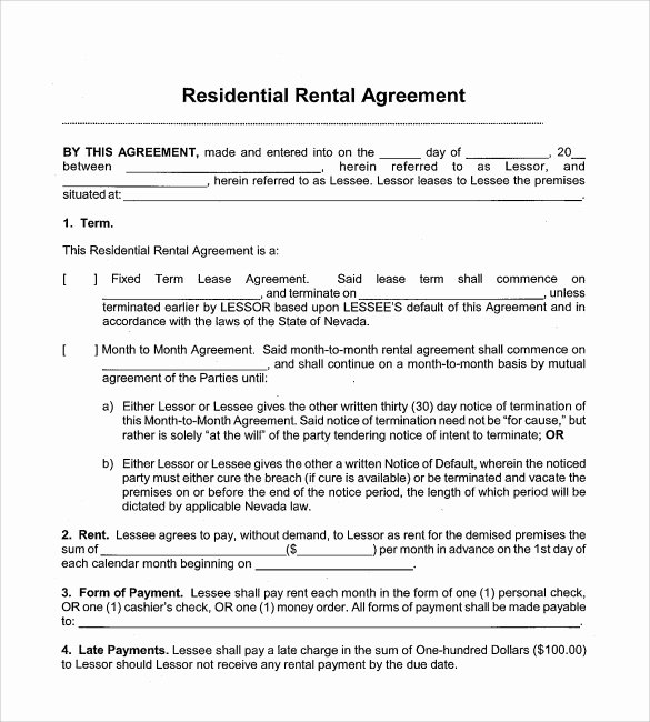 Simple Rental Agreement Pdf Inspirational Sample Month to Month Rental Agreement form 11 Free