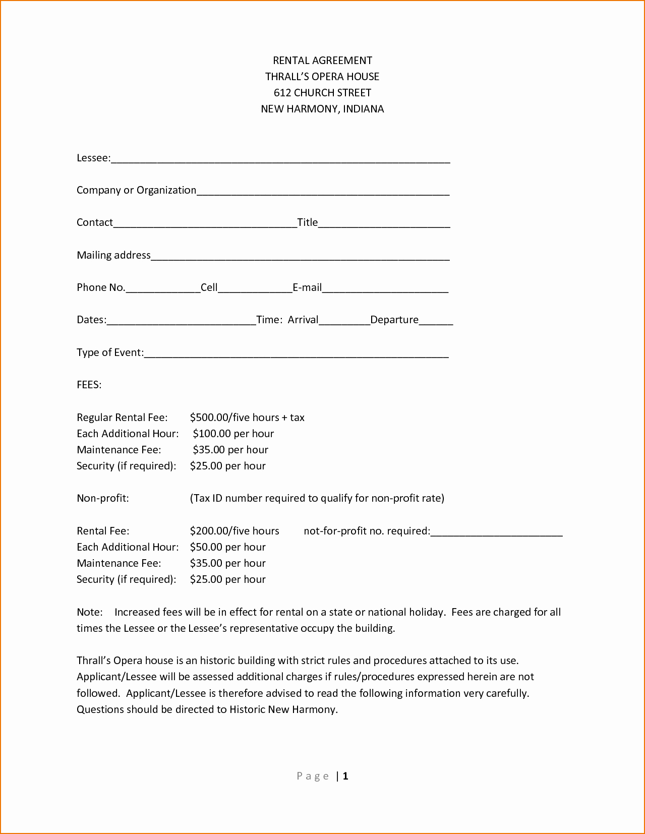 Simple Rental Agreement Pdf Lovely Simple E Page Lease Agreement