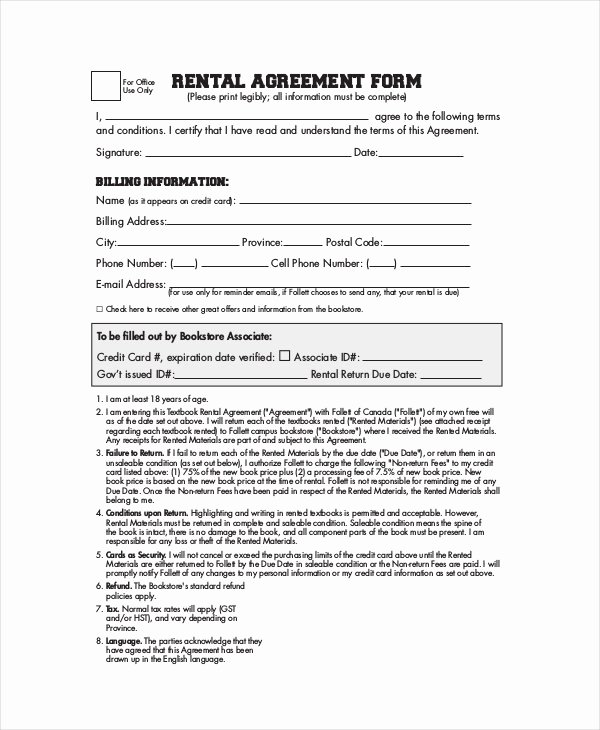 Simple Rental Agreement Pdf Unique Simple Rental Agreement 33 Examples In Pdf Word