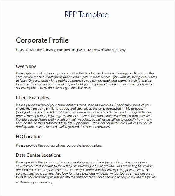 Simple Request for Proposal Example Awesome Sample Rfp Template 8 Free Documents In Pdf Word