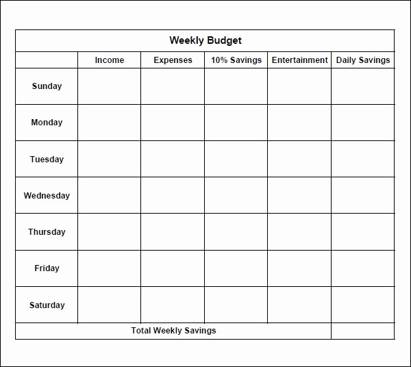 Simple Weekly Budget Template Awesome 7 Bi Weekly Bud Template
