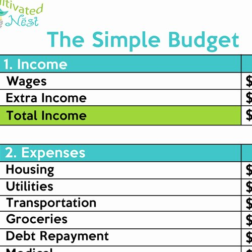 Simple Weekly Budget Template Beautiful How to Make A Simple Bud