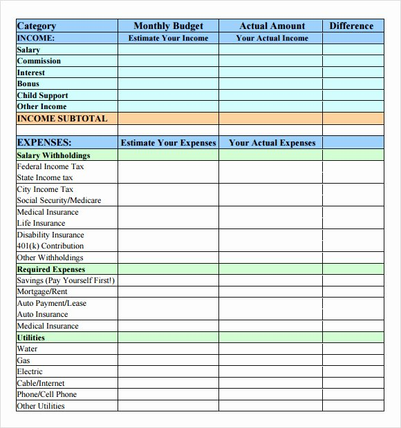 Simple Weekly Budget Template Fresh Sample Bud 7 Documents In Pdf Word