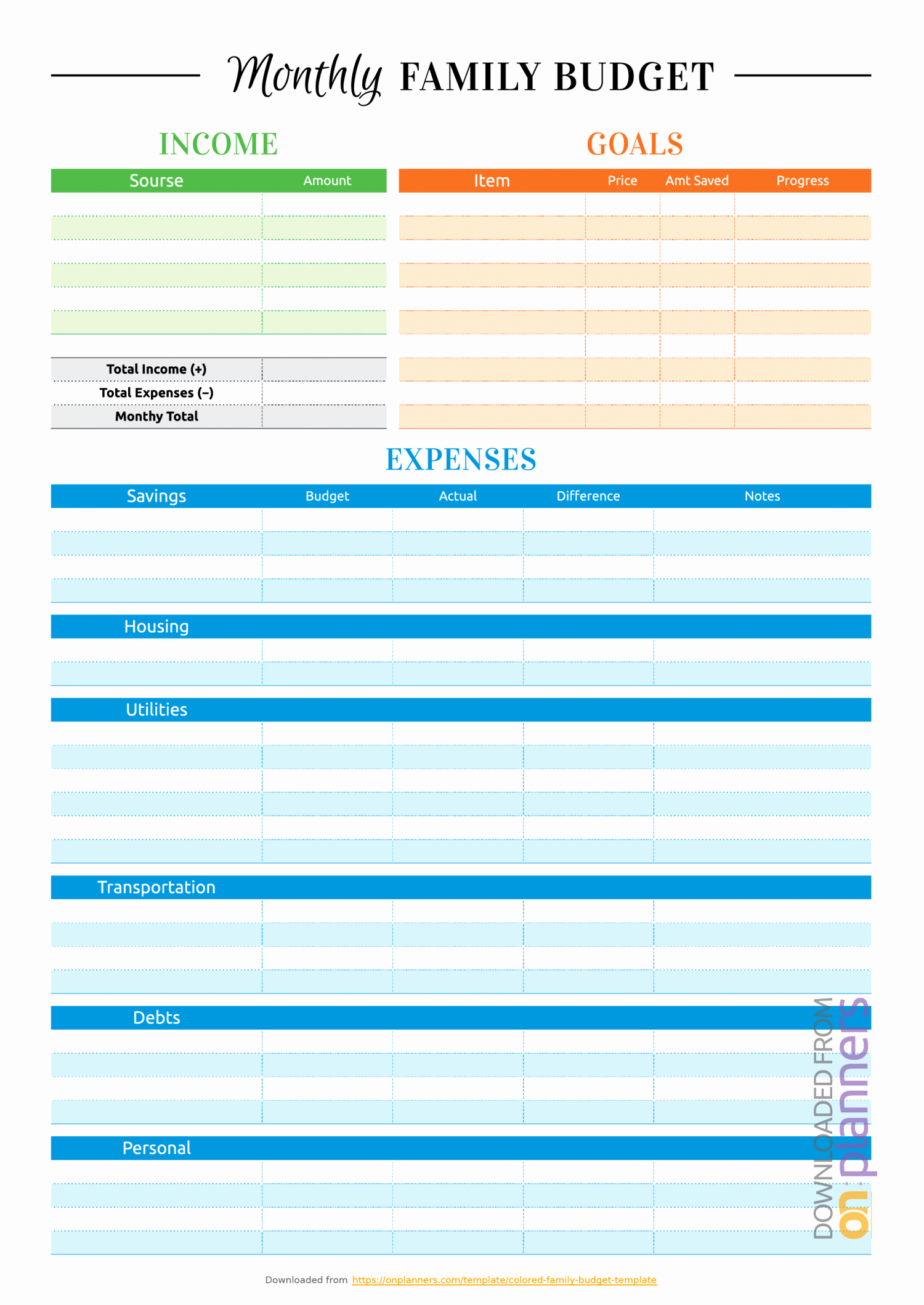 Simple Weekly Budget Template New Free Printable Simple Weekly Bud Template Pdf Download