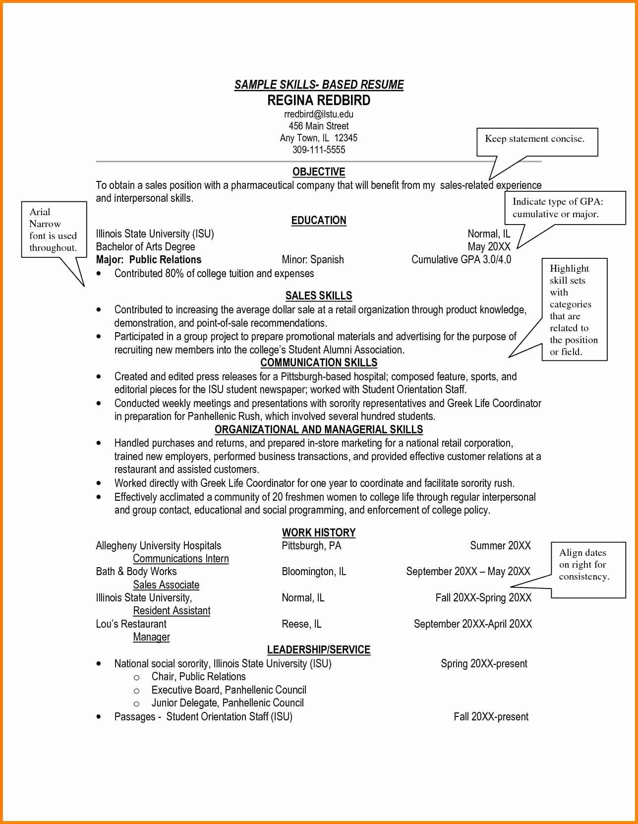 Skills Based Resume Template Free Best Of 8 Example Of A Skills Based Cv