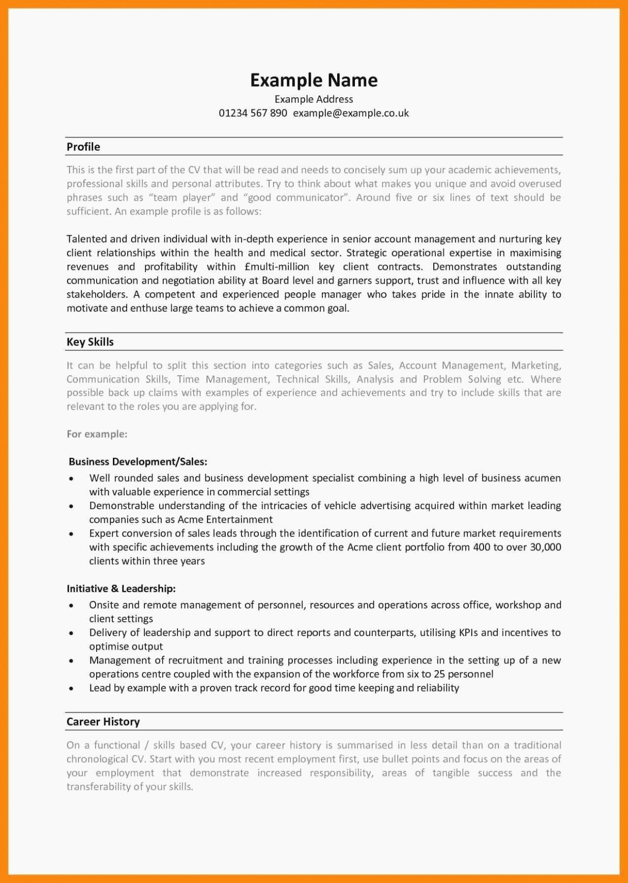 Skills Based Resume Template Free Inspirational 10 Skills Based Resume Template Free
