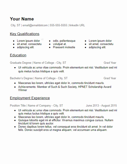 Skills Based Resume Template Free Lovely Skills Based Resume Templates Free to Download