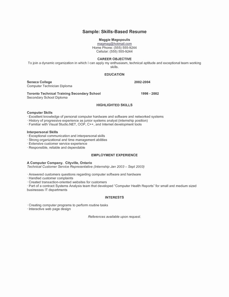 Skills Based Resume Template Free New 9 Best Resumes Images On Pinterest