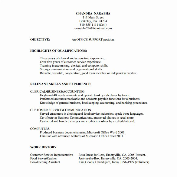 Skills Based Resume Template Free Unique 10 Customer Service Resume Templates Doc Pdf Excel