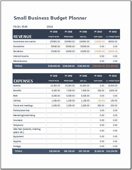 Small Business Budget Template Awesome Small Business Bud Planning Sheet for Ms Excel