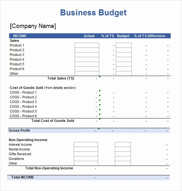 Small Business Budget Template Best Of Spreadsheet Template