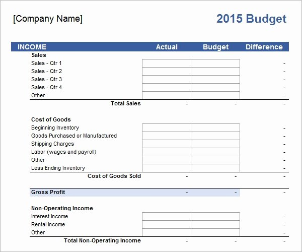 Small Business Budget Template Elegant Free 16 Sample Business Bud Templates In Google Docs