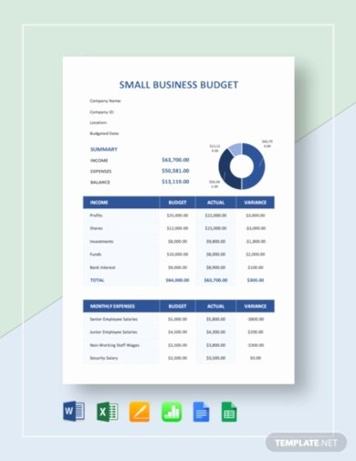 Small Business Budget Template Lovely 12 Business Bud Templates In Excel Word Pdf