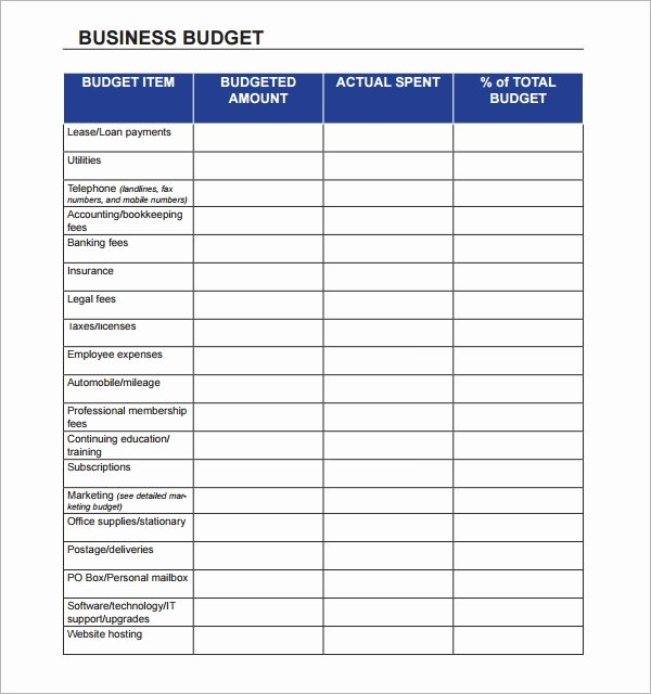 Small Business Budget Template Lovely Free 16 Sample Business Bud Templates In Google Docs