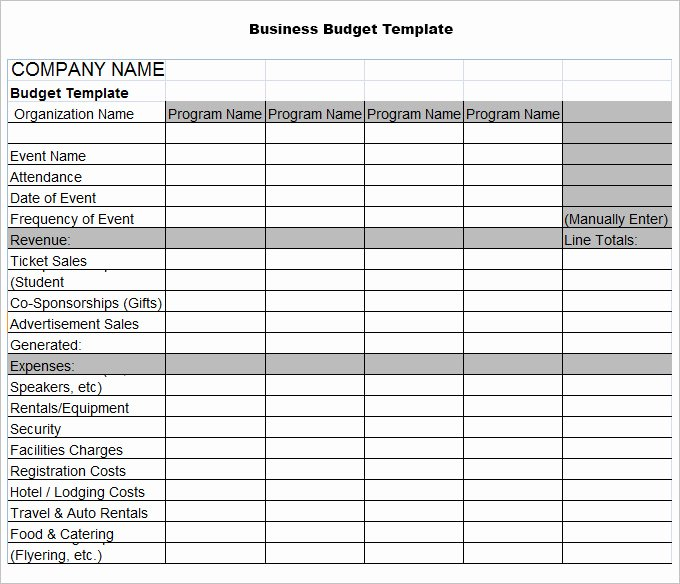 Small Business Budget Template Luxury Sample Business Bud Template
