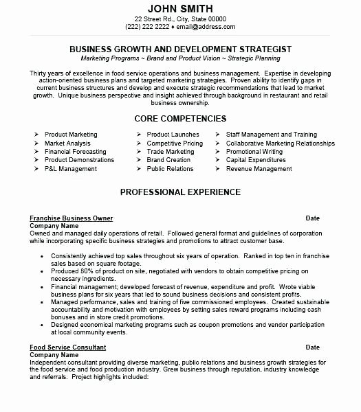 Small Business Owner Resume Beautiful Owner Operator Resume Best Of Owner Operator Resume Small