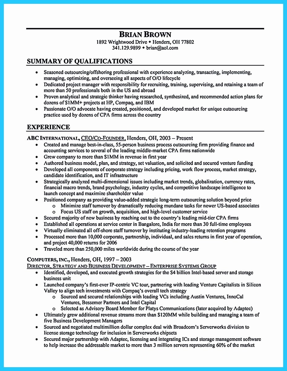 Small Business Owner Resume Best Of Outstanding Keys to Make Most attractive Business Owner Resume