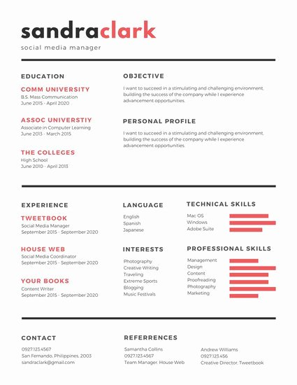 Social Media Manager Resumes Awesome Templates forms & Faqs – Recruitment Agency