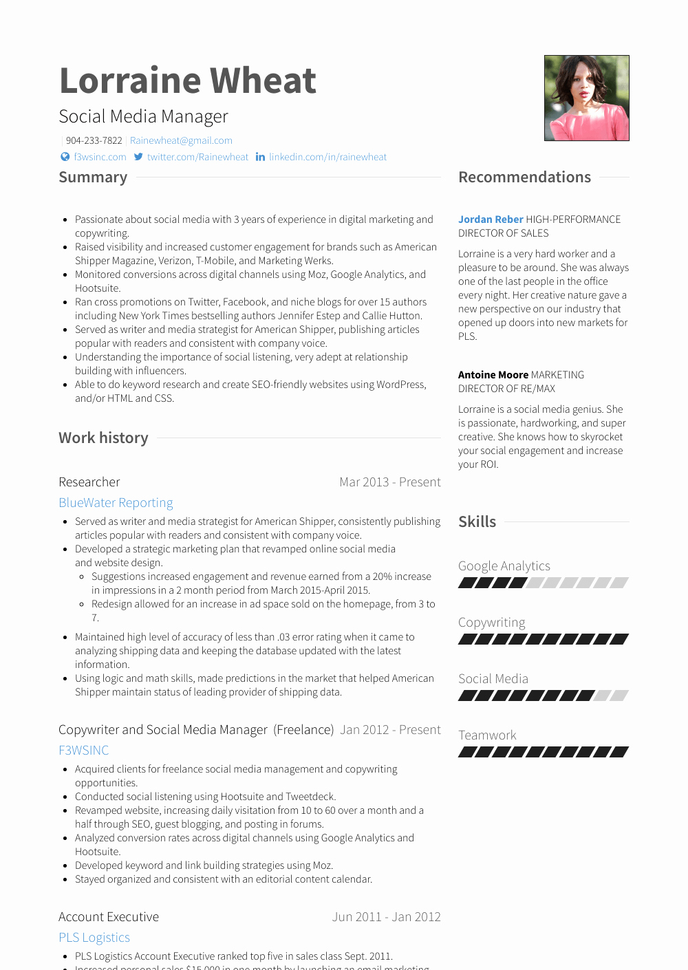Social Media Manager Resumes Best Of social Media Manager Resume Samples & Templates