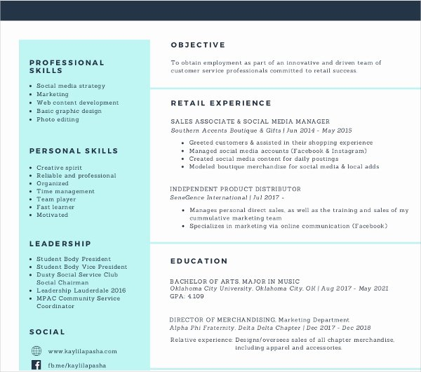 Social Media Manager Resumes Inspirational 7 social Media Resume Templates Pdf Doc