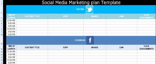 Social Media Proposal Template Awesome social Media Marketing Plan Template Free