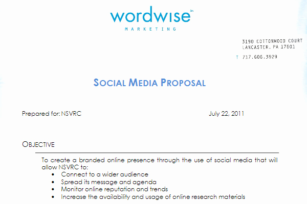 Social Media Proposal Template Awesome social Media Proposal