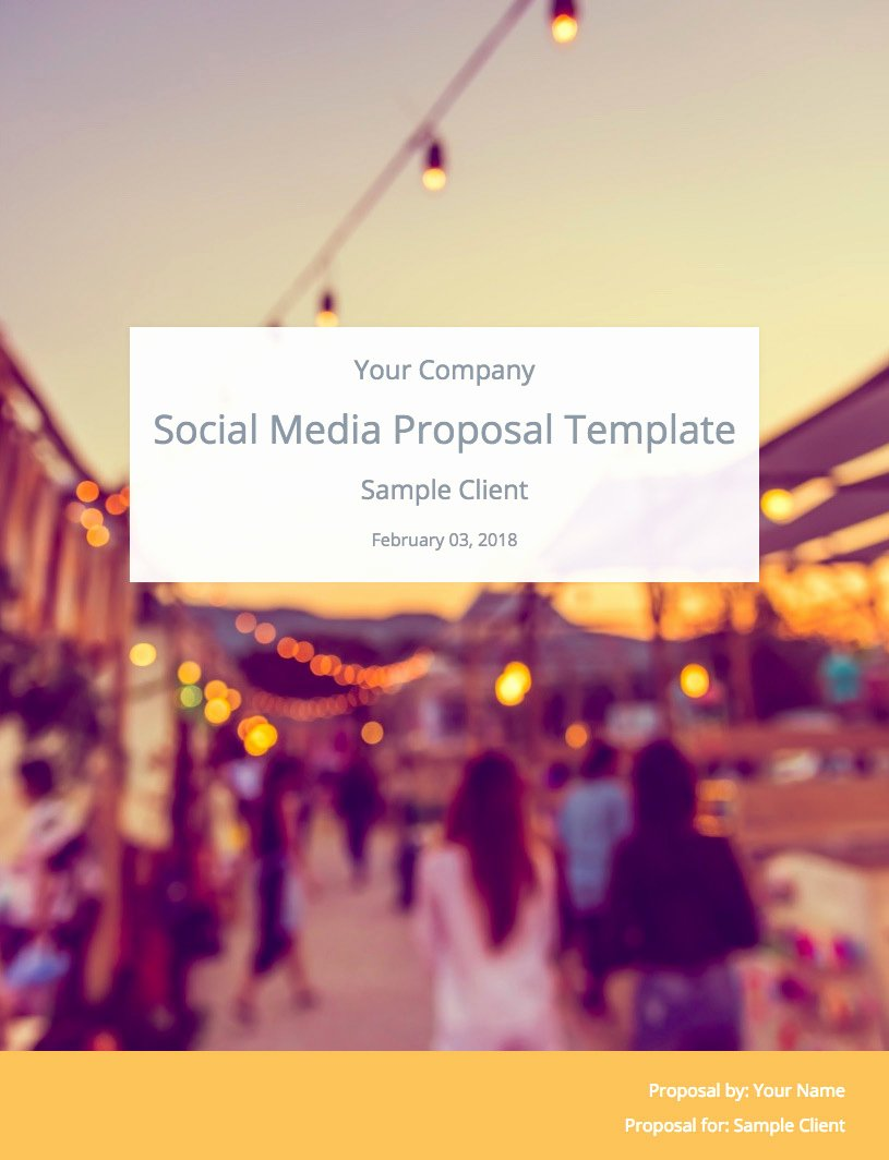 Social Media Proposal Template Best Of the Ultimate social Media Proposal Template Free Download