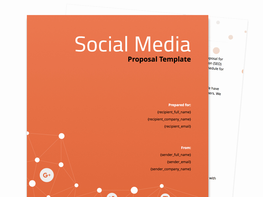 Social Media Proposal Template Elegant Free Business Proposal Templates